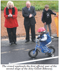 Mary Safe at the opening of the Amy Gillet bikeway just up the road in Woodside