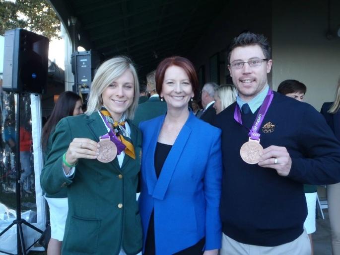 Annette Edmonson with Julia Gillard  and Shane Perkins