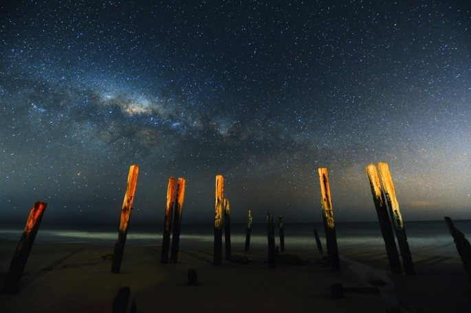 Port Willunga under the Milkyway via http://paulhaese.net