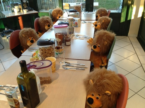 A typical Team Sky Breakfast