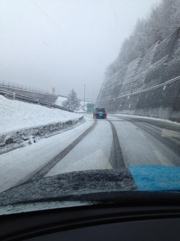 The weather got progressively worse and the climb of the Turchino Pass was canceled steephilltv