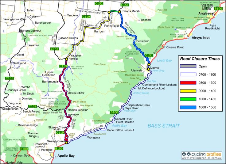 Gran Fondo Road Closures 2012