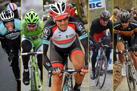 Sylvain Chavanel    Peter Sagan   Greg Van Avermeat   and Tom Boonen were all legitimate contenders   but Fabian Cancellara was the man to beat on Sunday      Photo  Graham Watson