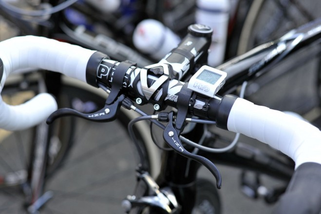 Top-mounted brake levers for FDJ's David Boucher