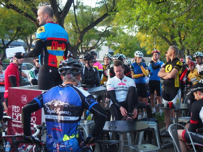 Daniel briefing the riders