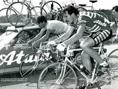 Freuler in the 1983 Giro