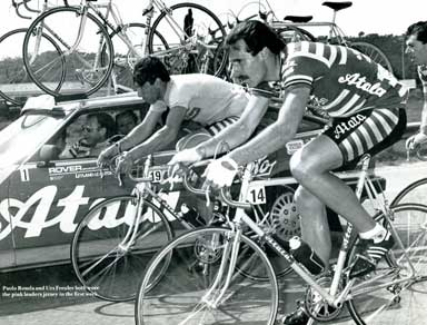 Freuler in the 1983 Giro