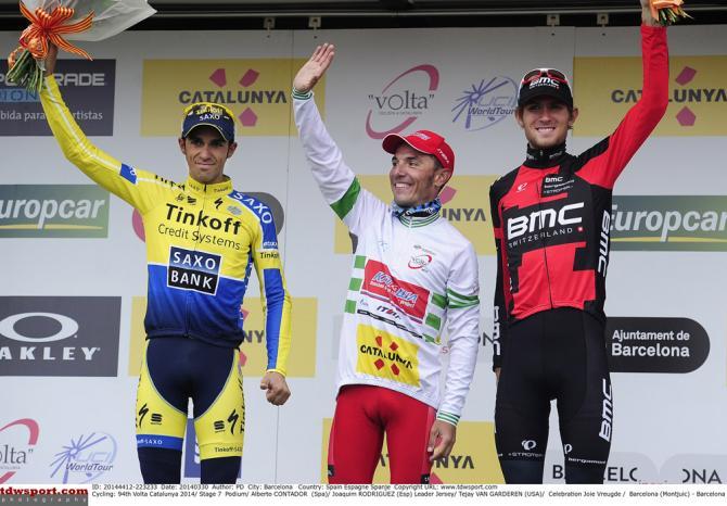 Alberto Contador, Joaquim Rodriguez and Tejay van Garderen