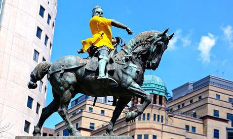 The statue of Black Prince in Leeds
