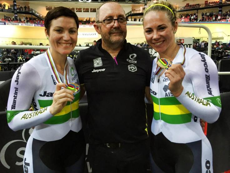 Anna Meares and Kaarle McCulloch team sprint
