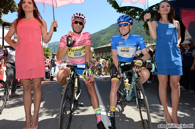 2015, Giro d'Italia, tappa 17 Tirano - Lugano, Tinkoff - Saxo 2015, Lotto NL - Jumbo 2015, Contador Alberto, Kruijswijk Steven, Tirano