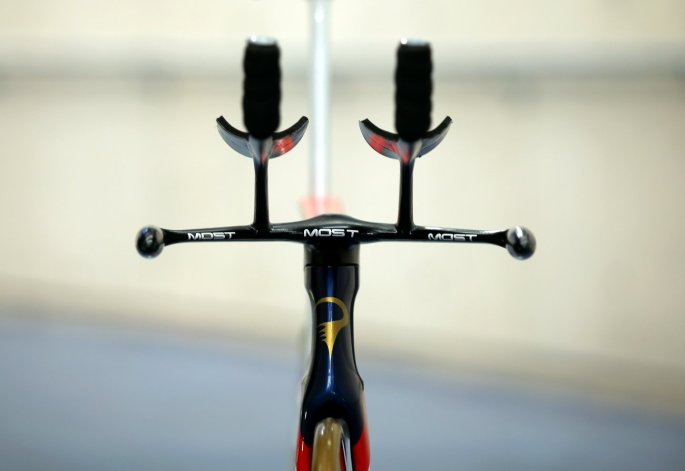 Sir Bradley Wiggins' Pinarello Bolide HR hour record track bike (Pic: Jaguar)
