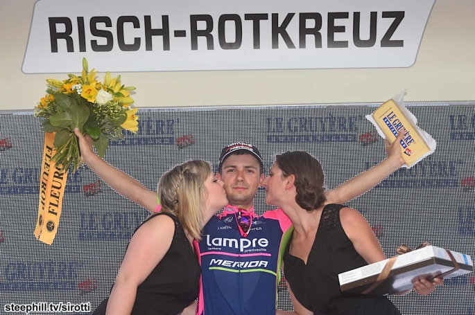 podium Kristijan DURASEK stage 2 winner