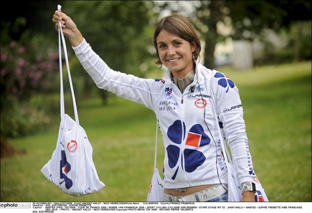 Sophie Chavanel-Frenette, wife and a physical therapist on the FDJ team