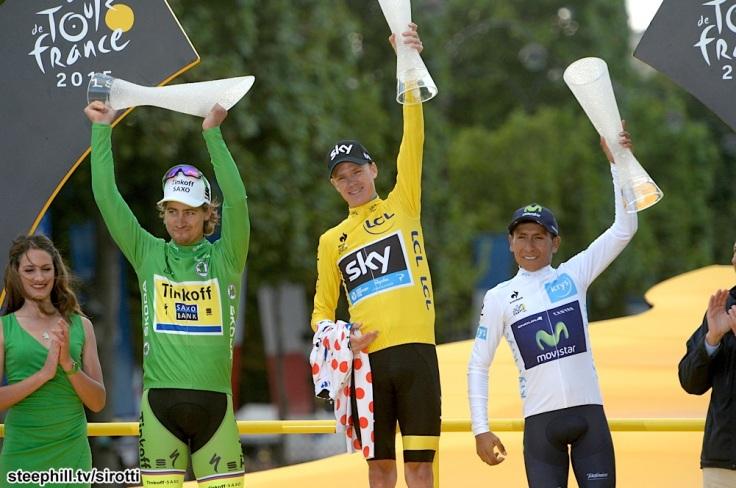 2015, Tour de France, tappa 21 Sevres - Paris, Team Sky 2015, Movistar 2015, Tinkoff - Saxo 2015, Froome Christopher, Quintana Rojas Nairo Alexander, Sagan Peter, Paris