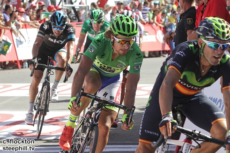 Peter Sagab takes 2nd place an dretains green jersey st4 vuleta a espana