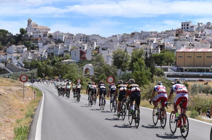 Cycling: 70th Tour of Spain 2015 / Stage 2 Illustration Illustratie/ Peloton Peleton/ Landscape Paysage/ Town/ Alhaurin de la Torre - Caminito del Rey (158,7Km) Vuelta Tour d'Espagne Ronde van Spanje / Etape Rit /(c) Tim De Waele