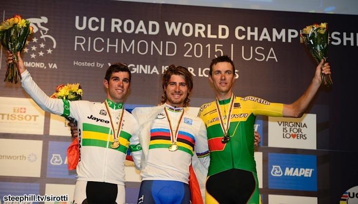 2015, World Championships elite, Tinkoff - Saxo 2015, Orica GreenEdge 2015, Cannondale - Garmin 2015, Sagan Peter, Matthews Michael, Navardauskas Ramunas, Richmond