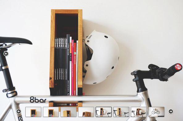 """OONA """"BERLIN"""" Wooden Bicycle Shelf"""