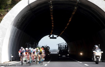 Peloton ride along the motorway during Milano-Sanremo 2016, 19 March 2016. ANSA/CLAUDIO PERI