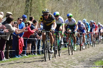 10-04-2016 Paris - Roubaix; 2016, Direct Energie; Chavanel, Sylvain; Arenberg;
