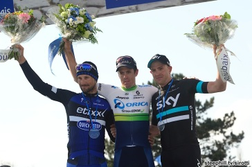 10-04-2016 Paris - Roubaix; 2016, Orica Greenedge; 2016, Etixx - Quick Step; 2016, Team Sky; Hayman, Michael Mathew; Boonen, Tom; Stannard, Jan; Roubaix;