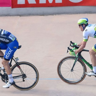 Roubaix - France - wielrennen - cycling - radsport - cyclisme - Tom Boonen (Belgium / Team Etixx - Quick Step) - Mathew Hayman (Australia / Team Orica Greenedge) - Sep Vanmarcke (Belgium / Team LottoNL - Jumbo) pictured during Paris - Roubaix PdV/PN/Cor Vos © 2015