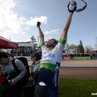 Roubaix - France - wielrennen - cycling - radsport - cyclisme - Mathew Hayman (Australia / Team Orica Greenedge) pictured during Paris - Roubaix PdV/PN/Cor Vos © 2015