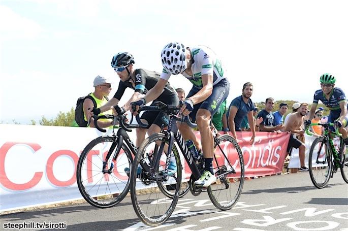 27-08-2016 Vuelta A Espana; Tappa 08 Villalpando - La Camperona; 2016, Movistar; 2016, Team Sky; Valverde, Alejandro; Konig, Leopold; La Camperona;