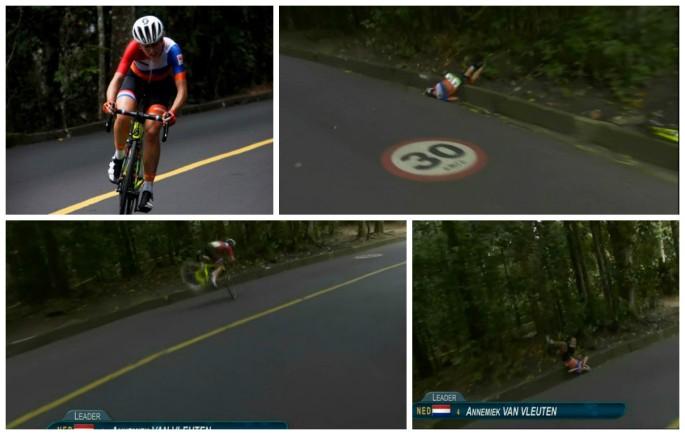 Annemiek-van-Vleuten-Crashes-While-Leading-Womens-Road-Race-at-Rio-Olympics
