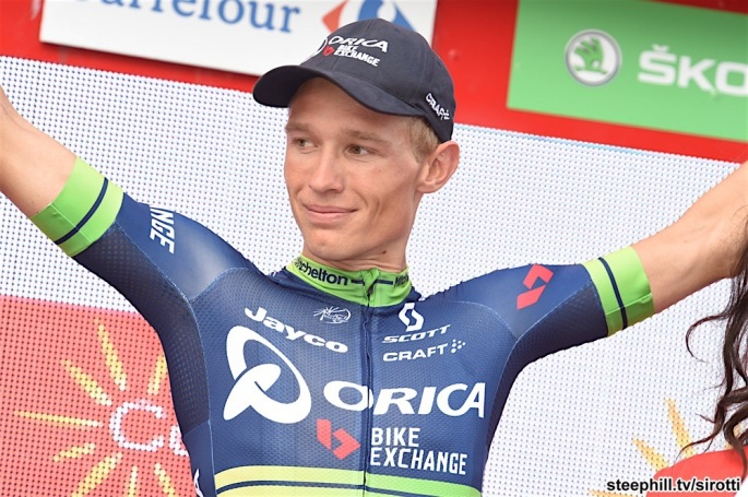 08-09-2016 Vuelta A Espana; Tappa 18 Requena - Gandia; 2016, Orica - Bikeexchange; Nielsen Magnus, Cort; Gandia;