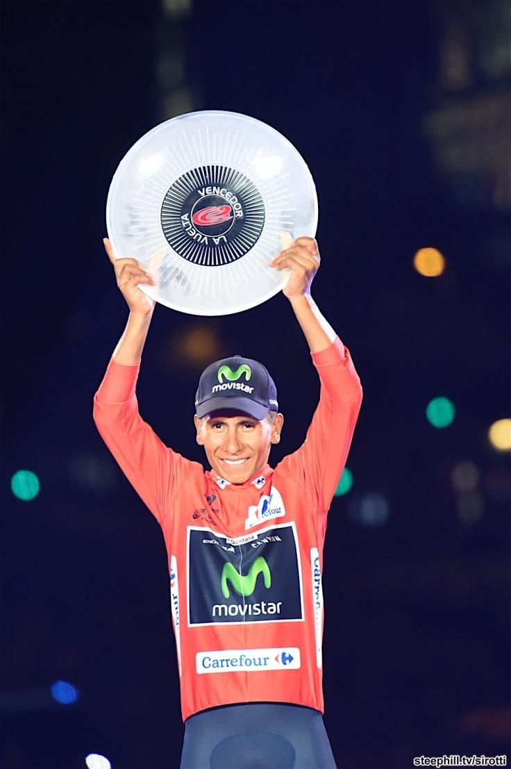 11-09-2016 Vuelta A Espana; Tappa 21 Las Rozas - Madrid; 2016, Movistar; Quintana Rojas Nairo, Alexander; Madrid;