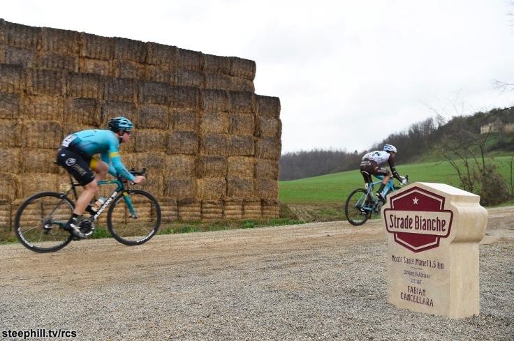 Gara ciclistica Strade Bianche 2017.