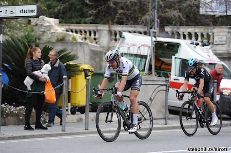 18-03-2017 Milano - Sanremo; 2017, Bora - Hansgrohe; 2017, Team Sky; Sagan, Peter; Kwiatkowski, Michal; Sanremo;