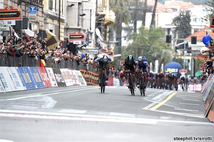 18-03-2017 Milano - Sanremo; 2017, Team Sky; 2017, Bora - Hansgrohe; Kwiatkowski, Michal; Sagan, Peter; Alaphilippe, Julian; Sanremo;