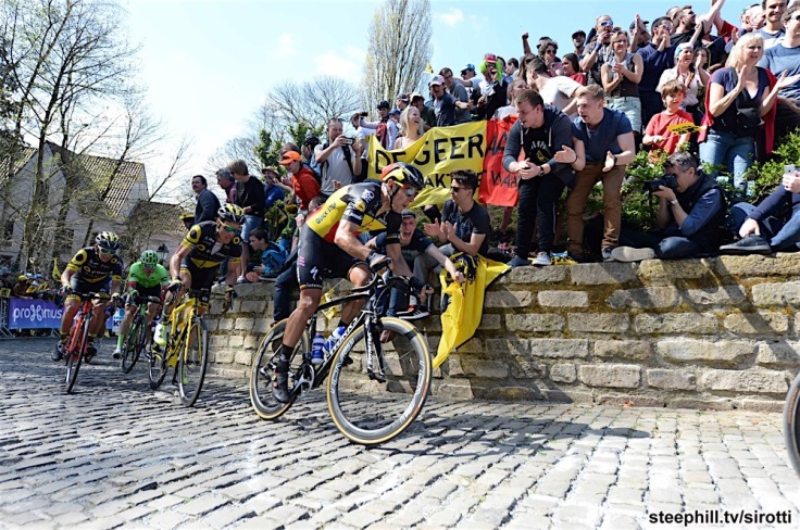 02-04-2017 Tour Des Flandres; 2017, Quick - Step Floors; Gilbert, Philippe; Muro Di Grammont;