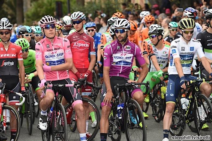 11-05-2017 Giro D'italia; Tappa 06 Reggio Calabria - Terme Luigiane; 2017, Quick - Step Floors; Jungels, Bob; Gaviria Rendon, Fernando; Reggio Calabria;