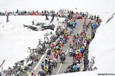 Foto LaPresse - Fabio Ferrari 23/05/2017 Bormio, Sondrio (Italia) Sport Ciclismo Giro d'Italia 2017 - 100a edizione - Tappa 16 - da Rovetta a Bormio - 222 km ( 137,9 miglia ) Nella foto:durante la gara . panoramiche Photo LaPresse - Fabio Ferrari May 23, 2017 Bormio, Sondrio ( Italy ) Sport Cycling Giro d'Italia 2017 - 100th edition - Stage 16 - Rovetta Bormio - 222 km ( 137,9 miles ) In the pic:during the race