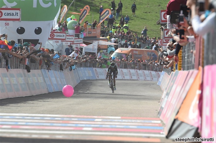 14-05-2017 Giro D'italia; Tappa 09 Montenero Di Bisaccia - Blockhaus; 2017, Movistar; Quintana Rojas Nairo, Alexander; Blockhaus;