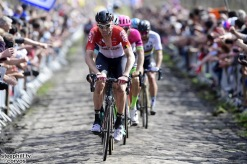 Roubaix - France - wielrennen - cycling - cyclisme - radsport - Marcel SIEBERG (Germany / Team Lotto Soudal) pictured during the 116th UCI World Tour Paris - Roubaix cycling race with start in Compiegne and finish at the Velodrome Andre-Petrieux in Roubaix on April 08, 2018 in Roubaix, France, 8/04/18 - photo NV/PN/Cor Vos © 2018