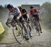 Roubaix - France - wielrennen - cycling - cyclisme - radsport - Peter SAGAN (Slowakia / Team Bora - hansgrohe) - Oliver NAESEN (Belgium / Team AG2R La Mondiale) - Marcel KITTEL (Germany / Team Katusha - Alpecin) pictured during the 116th UCI World Tour Paris - Roubaix cycling race with start in Compiegne and finish at the Velodrome Andre-Petrieux in Roubaix on April 08, 2018 in Roubaix, France, 8/04/18 - photo NV/PN/Cor Vos © 2018
