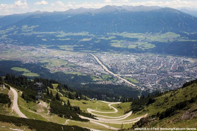 Innsbruck, Seegrube, Blick auf Innsbruck und Patscherkofel