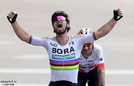 Roubaix - France - wielrennen - cycling - cyclisme - radsport - Peter SAGAN (Slowakia / Team Bora - hansgrohe) pictured during the 116th UCI World Tour Paris - Roubaix cycling race with start in Compiegne and finish at the Velodrome Andre-Petrieux in Roubaix on April 08, 2018 in Roubaix, France, 8/04/18 - photo NV/PN/Cor Vos © 2018