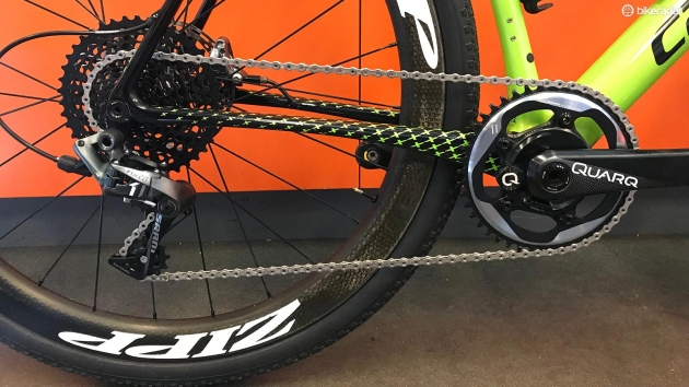 SRAM's Force 1 drivetrain featured prominently at this year's race