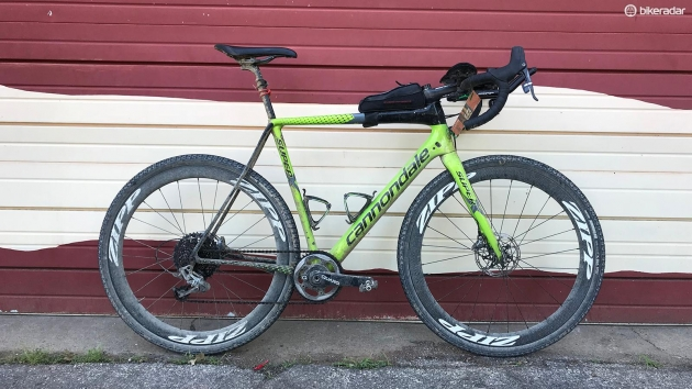 Ted King rode to his second Dirty Kanza victory aboard Cannondale's SuperX cyclocross bike