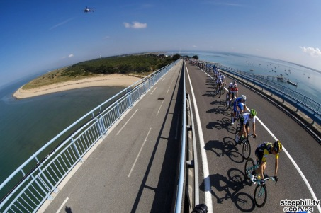 Fontenay-le-Comte - France - wielrennen - cycling - cyclisme - radsport - illustration - scenery - carte postal scenic shot - postcard sfeerfoto - sfeer - illustratie pictured during the 105th Tour de France - stage - 1 from Noirmoutier-en-l'Île to Fontenay-le-Comte - 189KM - photo LB/RB/Cor Vos © 2018