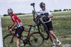 Fontenay-le-Comte - France - wielrennen - cycling - cyclisme - radsport - Jasper DE BUYST (Belgium / Team Lotto Soudal) - Christopher - Chris FROOME (GBR / Team Sky) pictured during the 105th Tour de France - stage - 1 from Noirmoutier-en-l'Île to Fontenay-le-Comte - 189KM - photo Pool Jeff Pachoud/Cor Vos © 2018