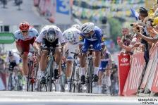 Fontenay-le-Comte - France - wielrennen - cycling - cyclisme - radsport - Fernando GAVIRIA RENDON (Columbia / Team Quick - Step Floors) - Peter SAGAN (Slowakia / Team Bora - hansgrohe) - Marcel KITTEL (Germany / Team Katusha - Alpecin) pictured during the 105th Tour de France - stage - 1 from Noirmoutier-en-l'Île to Fontenay-le-Comte - 189KM - photo VK/PN/Cor Vos © 2018