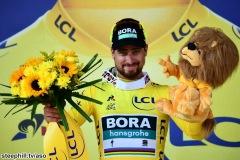Tour de France 2018 - 08/07/2018 - Etape 2 - Mouilleron-Saint-Germain / La Roche-sur-Yon (182;5km) - Peter SAGAN (BORA - HANSGROHE) Avec le maillot Jaune