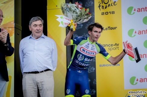 Fontenay-le-Comte - France - wielrennen - cycling - cyclisme - radsport - Yoann OFFREDO (France / Team Wanty - Groupe Gobert) pictured during the 105th Tour de France - stage - 1 from Noirmoutier-en-l'Île to Fontenay-le-Comte - 189KM - photo JDM/PN/Cor Vos © 2018
